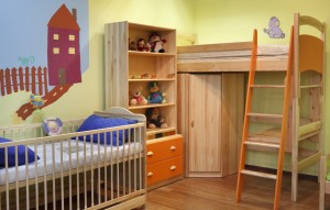 New Colourful Room For Small Boy with ornaments